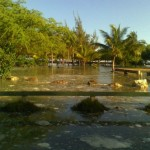 Kanaha Beach Park flooded by the March 11 Tsunami surge. Photo Courtesy County of Maui.
