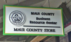The Maui County Business Resource Center is located at the Maui Mall, across from IHOP.
