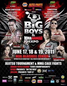 Big Boys and MMA Hawaii Expo Poster