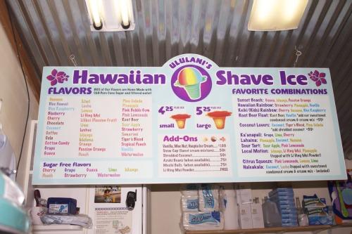 Maui ice cream and shaved ice