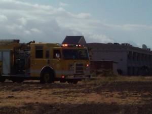 Piilani Hwy, Kihei. fire truck