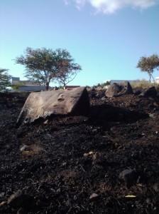 fire damage kihei piilani hwy brush debris