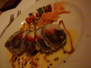 ahi tempura from Nick's Fishmarket