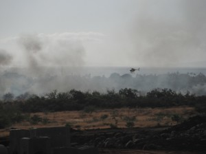 Lahaina brush fire, west maui, fires, helicopter
