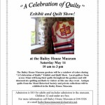 Celebration of Quilts flyer
