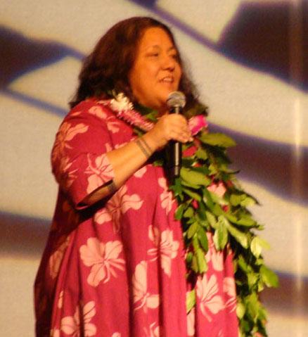 Kumu Hokulani Holt. File photo by Wendy Osher.