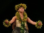 Manalani Mili Hokoana English of Halau Na Lei Kaumaka O Uka performs He Mele Inoa No Haumea.  It was one of two solo dances she performed at the 2011 Merrie Monarch Festival in Hilo, Hawaii.