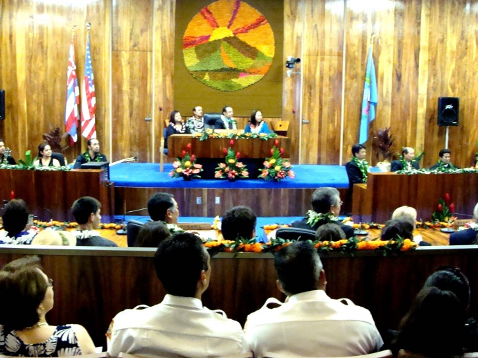 Maui Council Chambers, file photo by Wendy Osher.