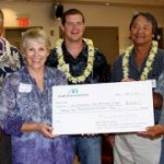 Grant Chun, A&B Properties; Buzz Fernandez, Matson Navigation; Sue Feltz, OCET; Dan Ligienza, (HC&S); Mel Kawano, Kahului Trucking & Storage; Garret Hew, EMI/HC&S.  (left to right).