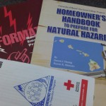 Emergency preparedness pamphlets are available from the Maui County Civil Defense Agency. Photo by Wendy Osher.