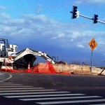 Wailuku road work, file photo by Wendy Osher.