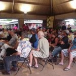 Moloka'i residents gather for a community meeting with OHA officials. Photo courtesy of OHA.
