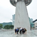 Maui delegates standing in front the Tower of Great Light at the Expo Science Park during a 2011 visit to Korea. Photo courtesy County of Maui.