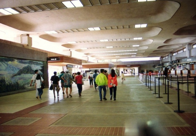 Kahului Airport Check-In Lobby. File photo courtesy of Deptartment of Transportation.