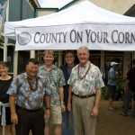 Members of the Maui County cabinet. Photo by Madeline M. Zeicker.