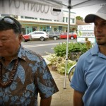 Mayor Arakawa and Communications Director Rod Antone. Photo by Madeline M. Zeicker.