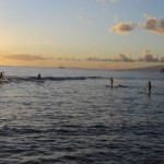 South-side surfers at Launiupoko Beach Park. Photo by Madeline M. Ziecker