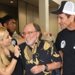 Lisa Teichner with Governor Neil Abercrombie and Hawaii Triple Crown of Jiu-Jitsu Founder Romolo Barros. Photo courtesy of MMA Hawaii.