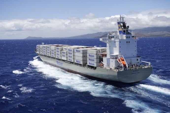 The Matson barge MV Maunalei. Photo courtesy of Matson.