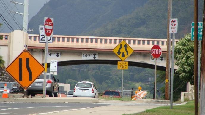 Kaahumanu Avenue Waiale Road Bridge. Photo by Wendy Osher.