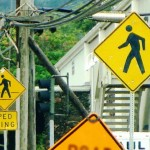 Pedestrian signage in Wailuku, Maui. Photo by Wendy Osher.