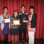 Baldwin High School Students receiving a newswriting award from PBS Hawai'i. Courtesy photo.