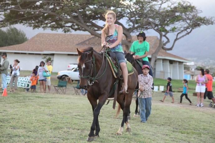 Human Pony Ride http://mauinow.com/2011/09/15/maui-high-school-kahului-campus-celebrates-40-years/