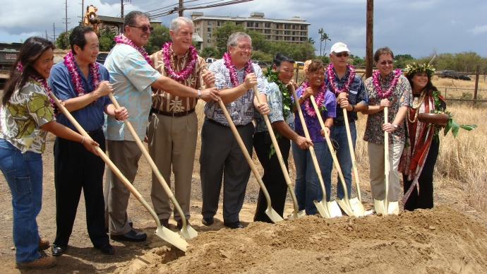 Kihei roundabout construction. File photo by Wendy Osher.