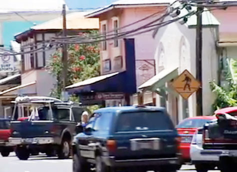 Pāʻia town, file image by Wendy Osher.