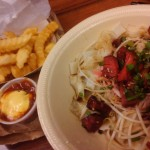 Chow fun and fries, photo by Kristin Hashimoto