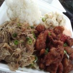 Mix-plate lunch from 808 Grinds, photo by Kristin Hashimoto