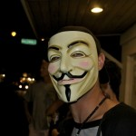 This Occupy Paia protestor has a vendetta of his own. Photo by Madeline Ziecker.