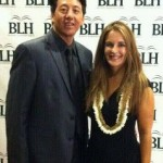 Imua Family Services, Dean Wong, executive director, with Christi Masters, program director at the BLN Awards yesterday. Courtesy photo.