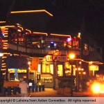 Front Street Lahaina by night. Photo courtesy of Lahaina Town Action Committee.