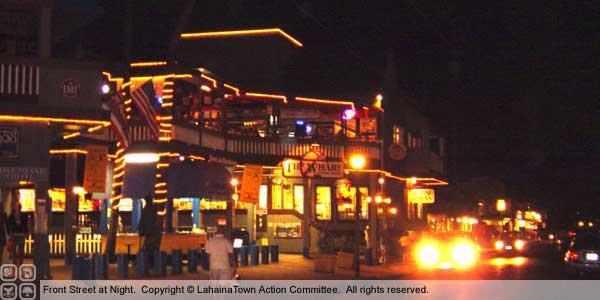 lahaina halloween front street party night