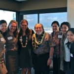 WIRE Board with Governor Neil Abercrombie at their August event. Photo courtesy of WiRE.