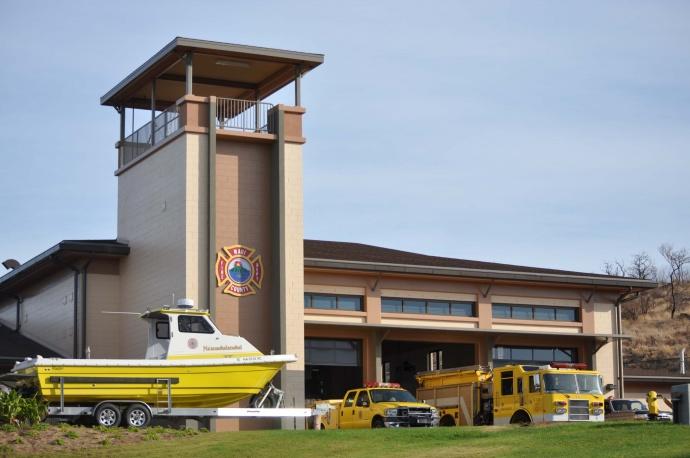 New Kaunakakai Fire Station. Photo Courtesy, County of Maui.