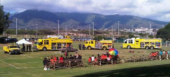 Maui Fire Prevention Week. File photo by Wendy Osher.