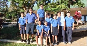 The Mechanical Menehune, made up of 6th and 7th graders at Kamehameha Schools Maui Campus, will be competing in this weekends robotics tournament. Photo courtesy of Vierra.