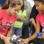 Members of the Molokai Gleeks robotics team are seen competing. Photo courtesy of MEDB.