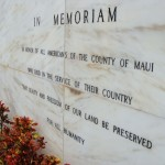 War Memorial plaque, file photo by Wendy Osher.
