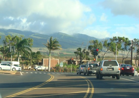 Lower Honoapiilani Highway near the Honua Kai Resort and Lahaina Wastewater Reclamation Facility. File photo by Wendy Osher.