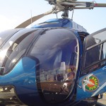 Blue Hawaiian helicopter, file photo by Wendy Osher.  The photo above is not from the crash site.