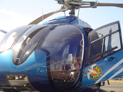 Blue Hawaiian helicopter, file photo by Wendy Osher.