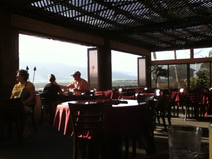 Monsoon Indian restaurant overlooks the fishpond. File photo by Kristin Hashimoto.