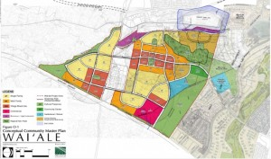 Waiale Master Plan map, photo courtesy PBR Hawaii & Associates Inc., & State of Hawaii FEIS document.