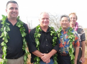 ral contractors for the new station. Also on hand were Chris Kanazawa and Rocky Chenelle representing the USDA Hilo office which provided $17 million in funding for the project. Photo by Susan Halas