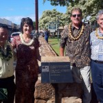 (left to right) Maui Mayor Alan Arakawa; Theo Morrison, Executive Director for Lahaina Restoration Foundation; David Allaire, President of the Lahaina Restoration Foundation; and Paul Luersen, AICP, President of the American Planning Association Hawaii Chapter. Courtesy photo.