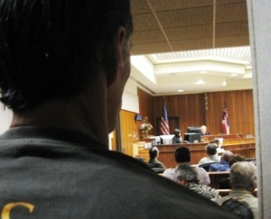 Judge Cardoza faced a full courtroom of squatters