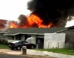 Kunu Place Structure fire.  Courtesy Photo.